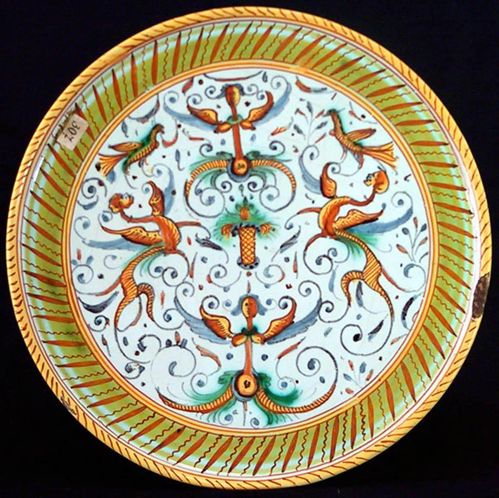 Италия дерута тарелка xvii в майолика